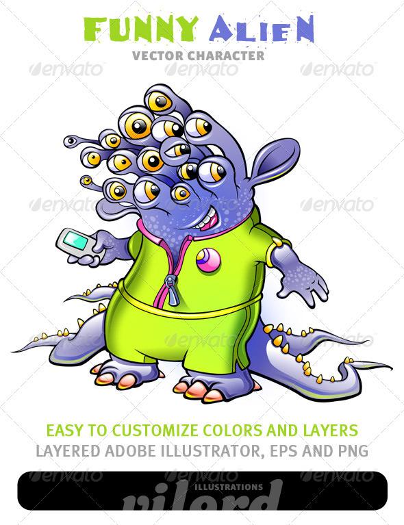 Alien Mascot - Monsters Characters