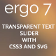 Transparent Text Slider, Contact Form, 404 Page, With CSS3 and SVG