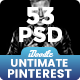 Pinterest Ultimate Pack Banners Ads - 53 PSD