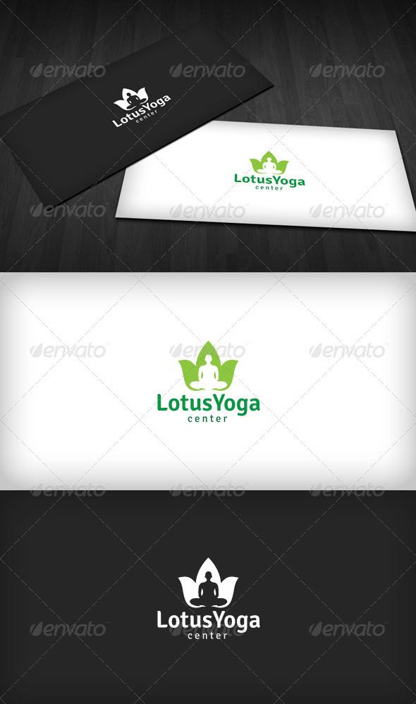 Lotus Yoga Logo - Symbols Logo Templates