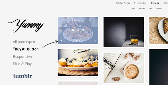 Yummy | Creative Portfolio Tumblr Theme