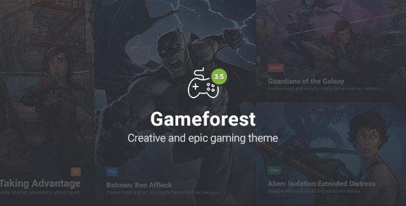 Gameforest - Responsive Gaming HTML Theme