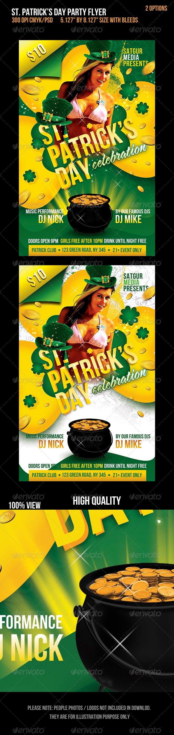 St. Patricks Day Music Party Flyer - Flyers Print Templates