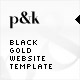 AS2 XML Black Gold Website Template - ActiveDen Item for Sale