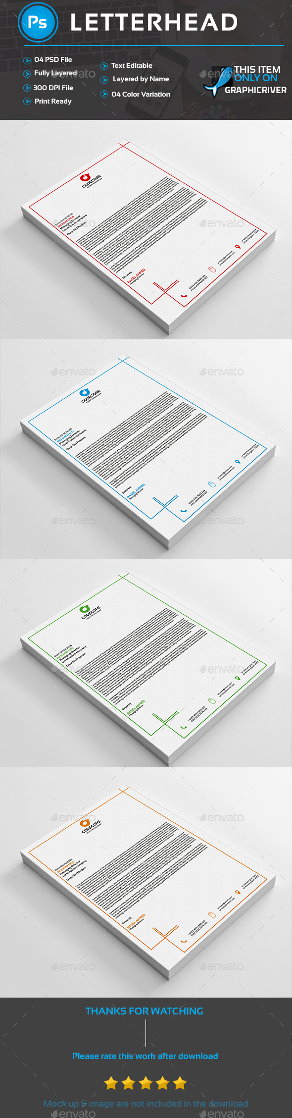 Letterhead Template (Stationery)
