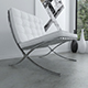 Barcelona chair (White leather)