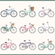 Bicycle Icons Set and Cards with Bicycles