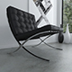 Barcelona chair (Black leather)