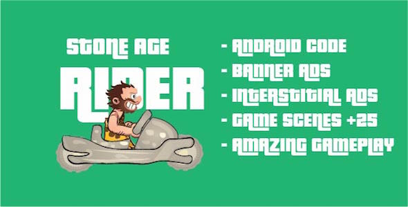 Stone Age Rider - iOS Game Template with Admob