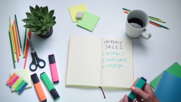 Download Businesswoman Thinking How To Increase Sales nulled download