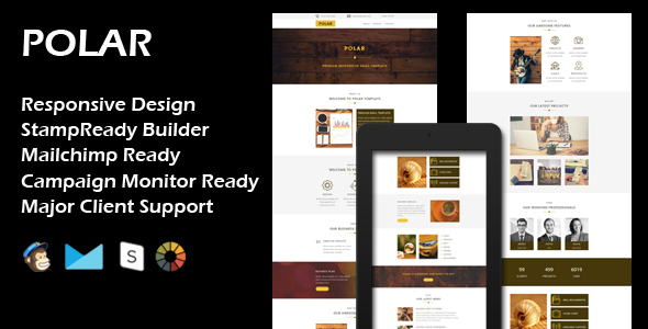 POLAR - Multipurpose Responsive Email Template + Stamp Ready Builder