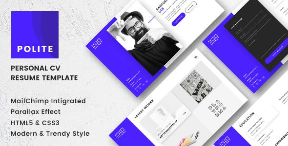 Polite - Multipage CV/Resume Template