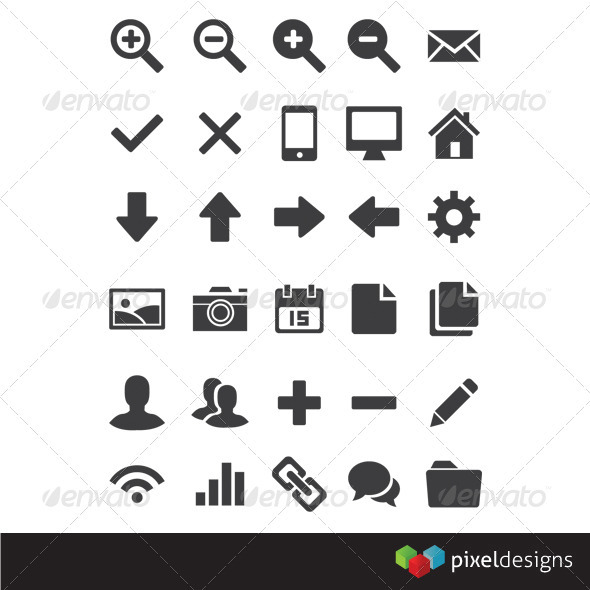 GraphicRiver 30 Basic Webdesign Icon 1745813