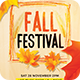 Fall Festival Flyer Template PSD