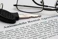 AUtomobile rental agreement