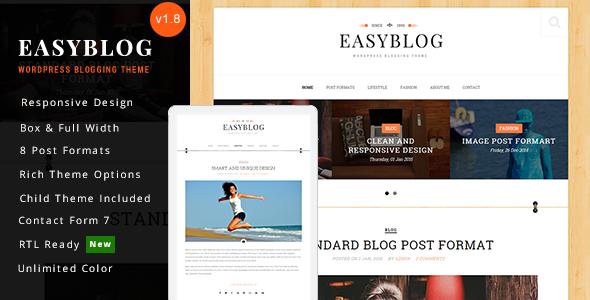 Easyblog - Responsive WordPress Blog Theme