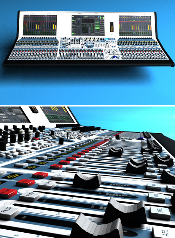 Digital Audio Mixer - 3DOcean Item for Sale