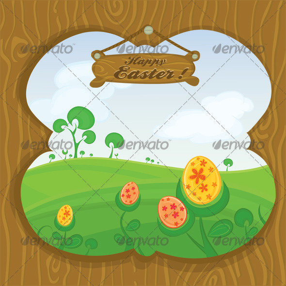 Vector Easter card - Seasons/Holidays Conceptual
