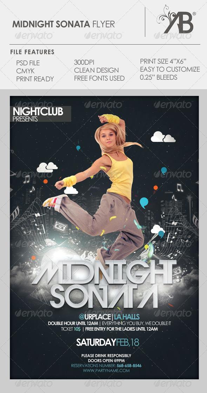 Midnight Sonata Flyer PSD Template