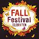 Fall Festival Celebration Flyer Template PSD