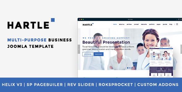 Hartle Multi-Purpose Joomla! Template