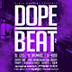 Dope Beat 2 | Urban Underground Minimal Flyer PSD Template