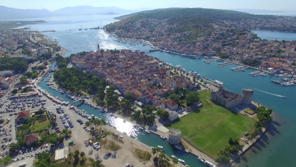 Download Aerial Shoot Of Trogir Old Town nulled download