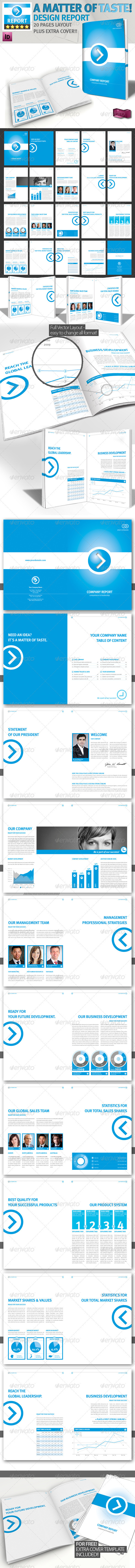 Professional Brochure Blue Magazine A4 v1