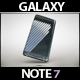 Smartphone Galaxy Note 7 Gravity Mock Up