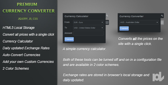 Premium Currency Converter for jQuery - CodeCanyon Item for Sale