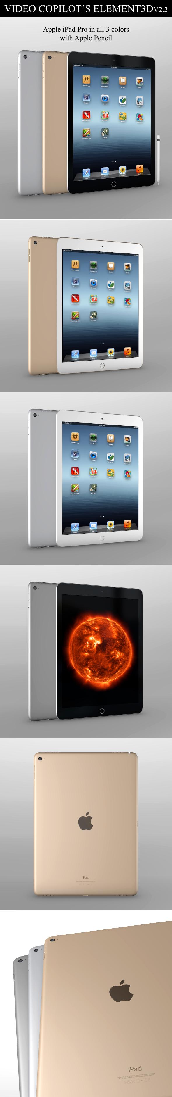 Element3D - iPad Pro - 3DOcean Item for Sale
