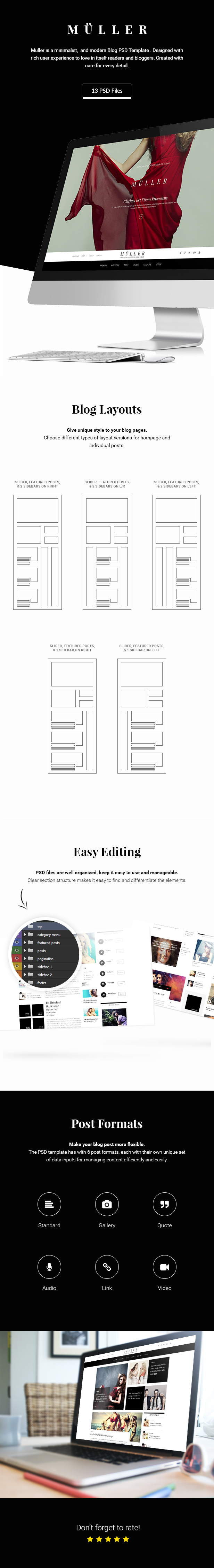 Muller - Blog, Magazine and News PSD Template - 1