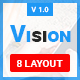 Vision-Responsive Email Template + Stampready builder with  8 Different header/color Layout