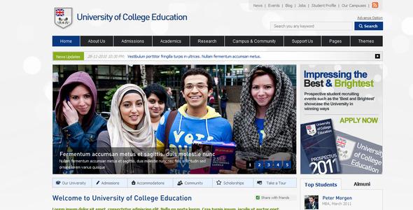 ThemeForest College Education 205693