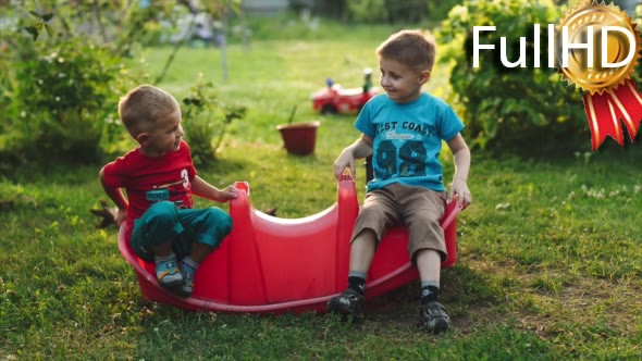 Download Children Riding on Swing in the Garden nulled download