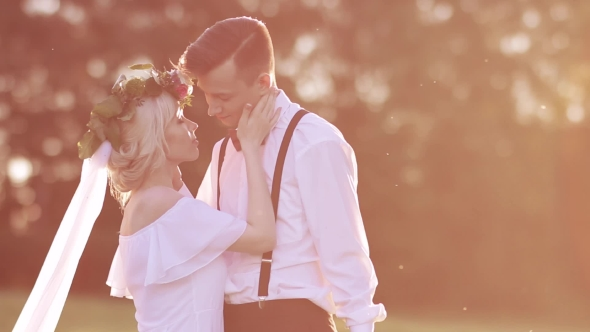 Download Bride And Groom In Love At Sunset nulled download