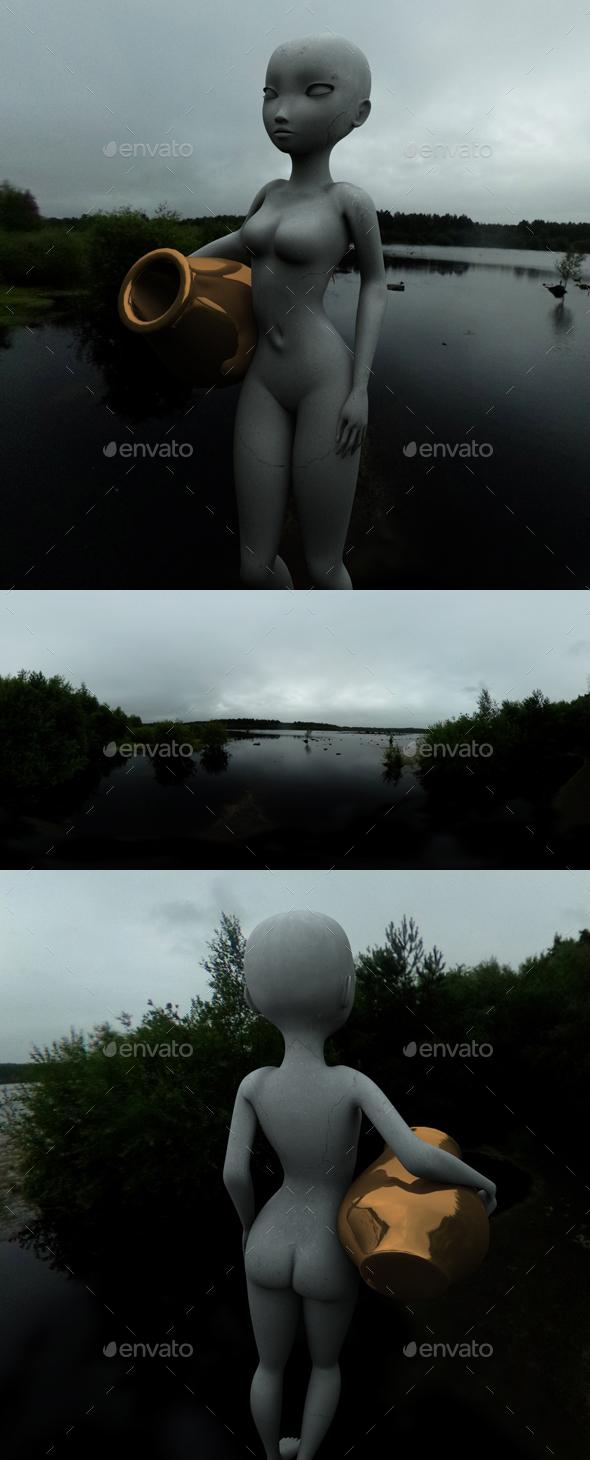 Dark Overcast Lake HDRI - 3DOcean Item for Sale