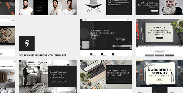 Solace | Highly Flexible Component Based HTML5 Template