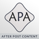 APA - After Post Content Managment