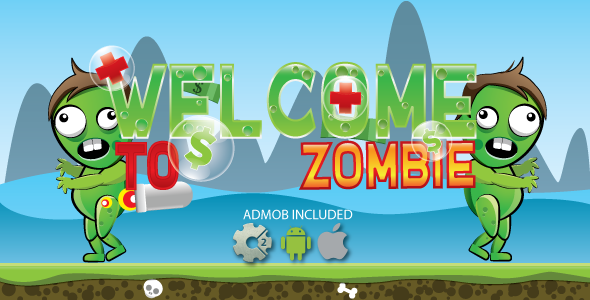 Welcome to zombie - HTML5 game. Construct2 (.capx) + ADMOB
