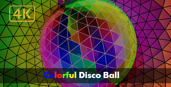 VideoHive Colorful Disco Ball 4K 17561887