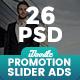 Promotion  Sliders Ads - 26 PSD