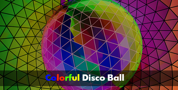 VideoHive Colorful Disco Ball HD 17561942