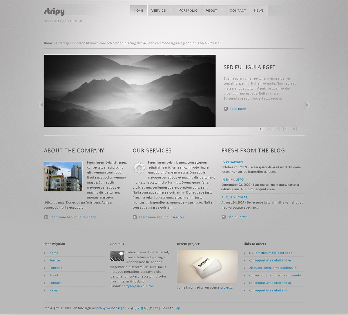 stripy -   The homepage of the HTML template files.