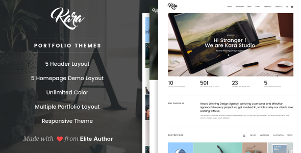 Kara - Simple Portfolio WordPress Theme