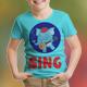 Elephant Singing Kids T-Shirt
