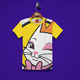 Beauty Cat Kids T-Shirt Design
