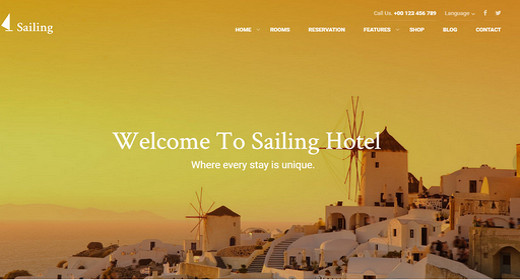 WordPress Hotel Theme 2016