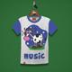 Cow Music Kids T-Shirt Design