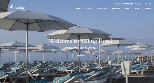 Amazing Hotel WordPress Theme